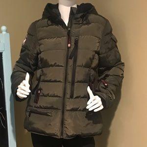 Canada Weather Gear Olive Green Puffer Jacket sz L